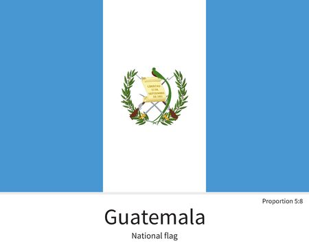 citizenship: National flag of Guatemala with correct proportions, element, colors for education books and official documentation