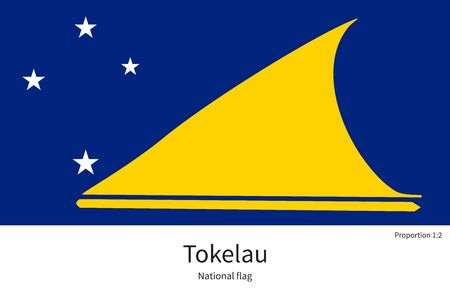 tokelau: National flag of Tokelau with correct proportions, element, colors for education books and official documentation