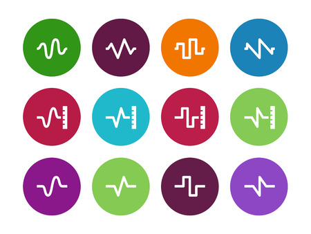 Sound  circle icons on white background. Vector illustration.