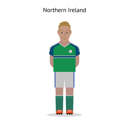northern ireland: Football kit. Northern Ireland soccer player form. Vector illustration Illustration