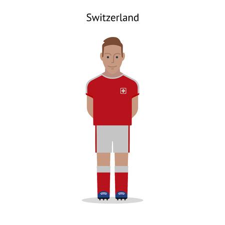 sport clothes: Football kit. Switzerland soccer player form. Vector illustration