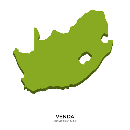 Isometric map of Venda detailed vector illustration. Isolated 3D isometric country concept for infographic