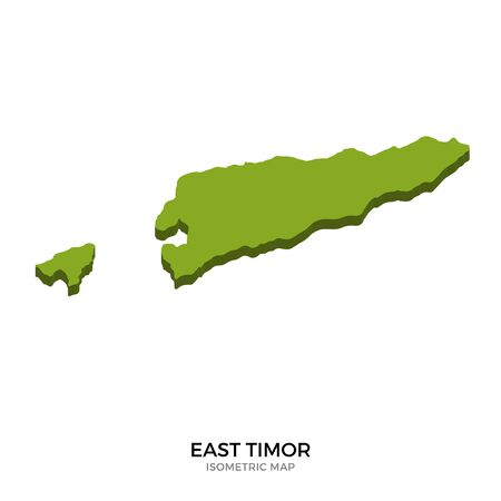 polity: Isometric map of East Timor detailed vector illustration. Isolated 3D isometric country concept for infographic