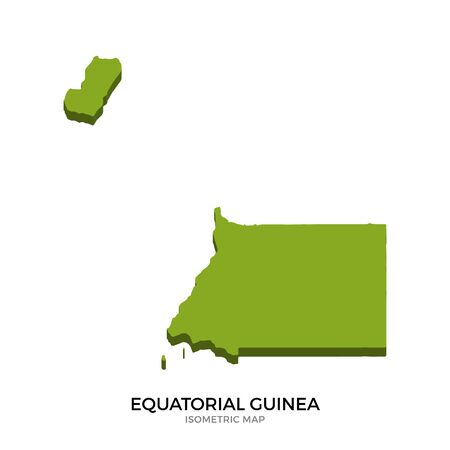 equatorial guinea: Isometric map of Equatorial Guinea detailed vector illustration. Isolated 3D isometric country concept for infographic Illustration