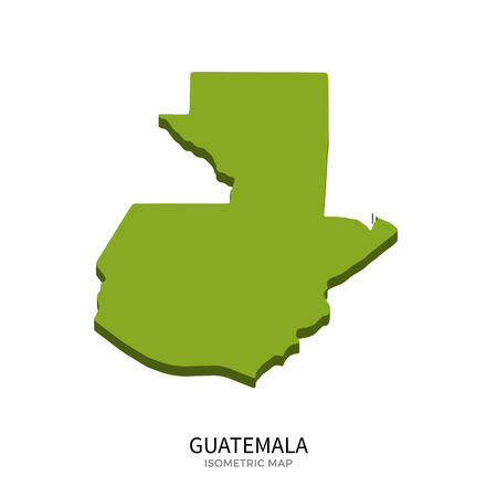 polity: Isometric map of Guatemala detailed vector illustration. Isolated 3D isometric country concept for infographic