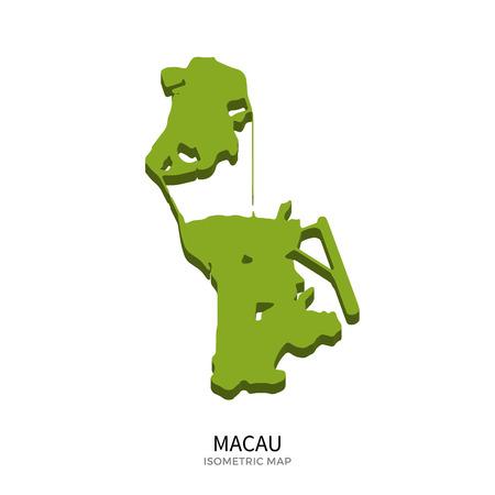 Isometrische Karte von Macau detaillierte Vektor-Illustration. Lokalisiertes isometrisches Landkonzept 3D für infographic
