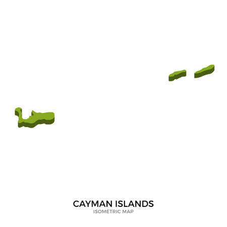 polity: Isometric map of Cayman Islands detailed vector illustration. Isolated 3D isometric country concept for infographic Illustration