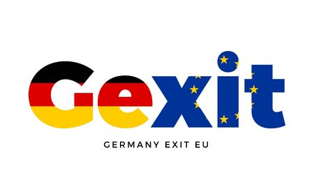 political party: GEXIT - Germany exit from European Union on Referendum. Vector Isolated