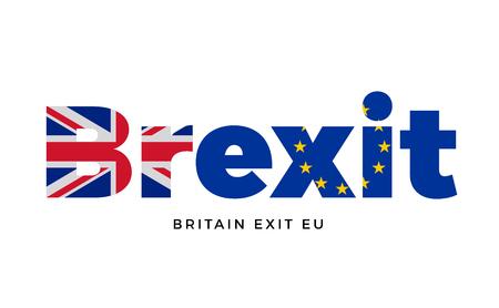BREXIT - uscita in Gran Bretagna dal dell'Unione europea sul referendum. vettore Isolato
