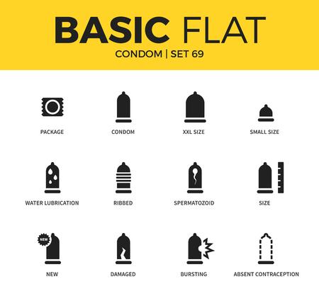 Basic set of condom icons
