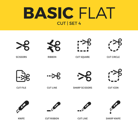 penknife: Basic set of cut icons