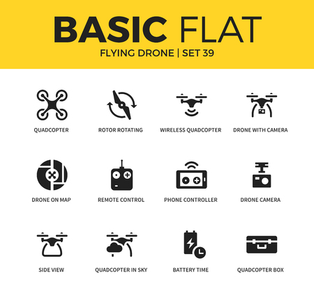 collins: Basic set of Flying drone icons