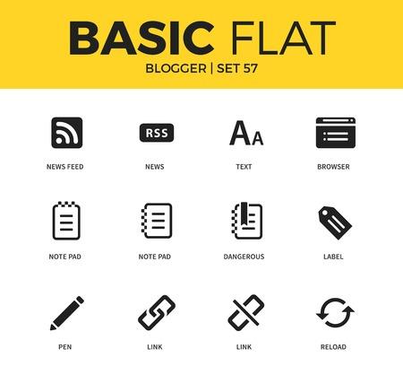 screenwriter: Basic set of blogger icons