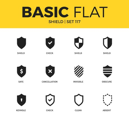 obscure: Basic set of Shield icons