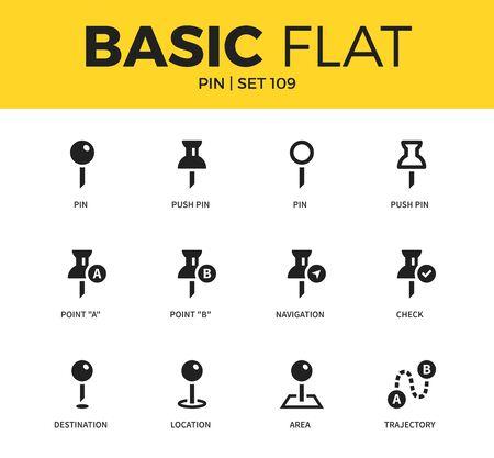 Basic set of pin icons