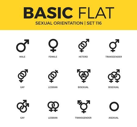Basic set of Sexual orientation icons Stock Photo