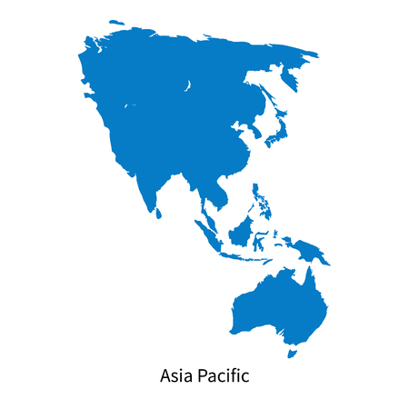Gedetailleerde vector kaart van Azië-Pacific Region