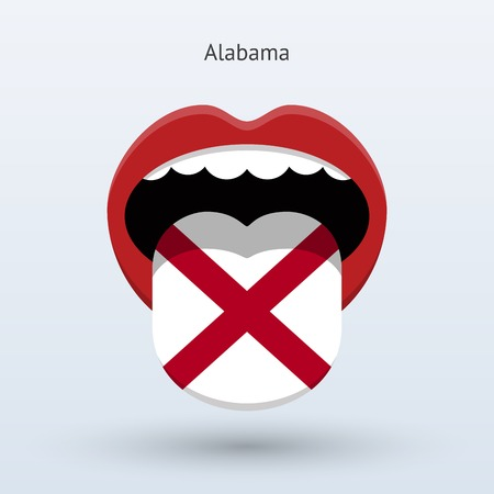 Electoral vote of Alabama. Abstract mouth. Illustration