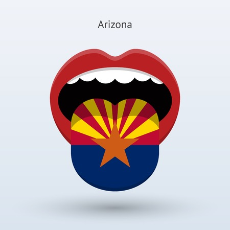 Electoral vote of Arizona . Abstract mouth. Illustration
