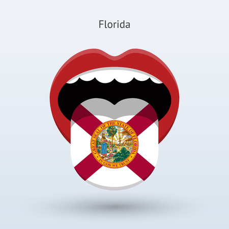 Electoral vote of Florida. Abstract mouth.
