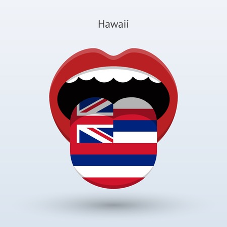 Electoral vote of Hawaii. Abstract mouth.
