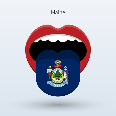 Electoral vote of Maine. Abstract mouth. Illustration