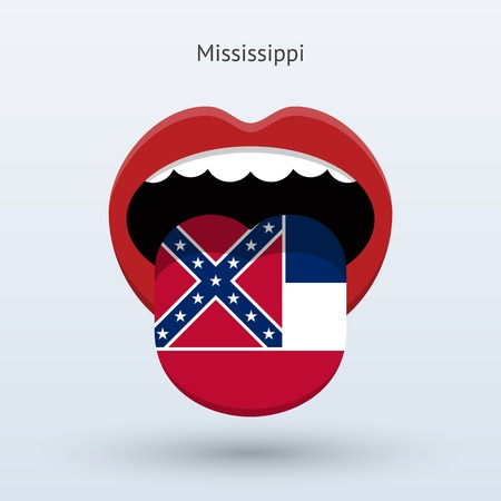 Electoral vote of Mississippi. Abstract mouth.