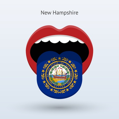 Electoral vote of New Hampshire. Abstract mouth.