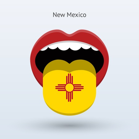 Electoral vote of New Mexico. Abstract mouth.