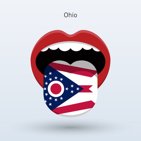 Electoral vote of Ohio. Abstract mouth.
