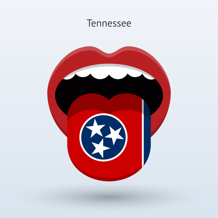Electoral vote of Tennessee. Abstract mouth. Illustration