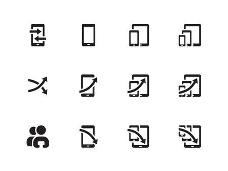SEO Analytics Chart icons on white background. Vector illustration.
