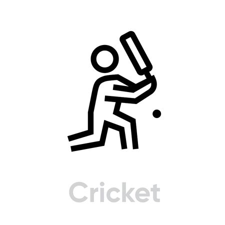Cricket player icon