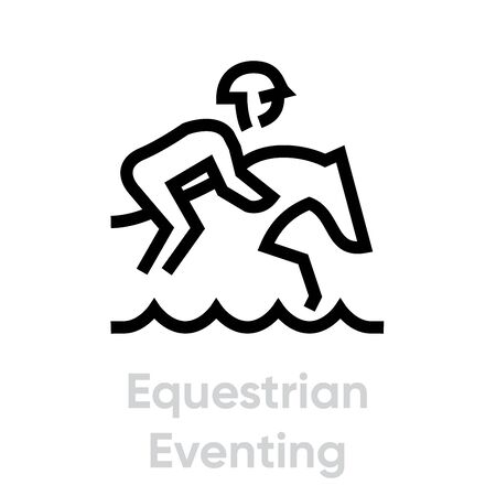 Equestrian Eventing sport icons