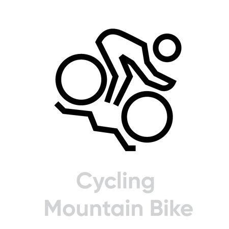 Cycling Mountain Bike sport icons  イラスト・ベクター素材
