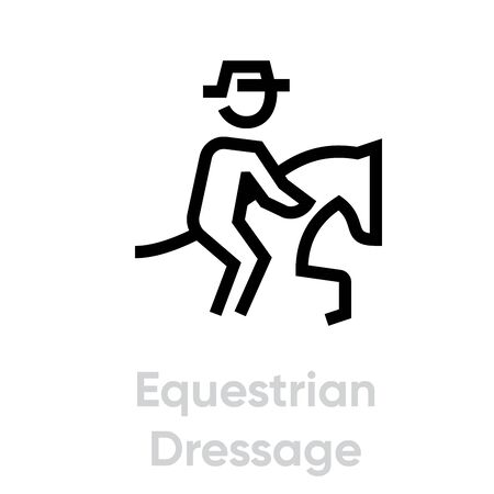 Equestrian Dressage icons