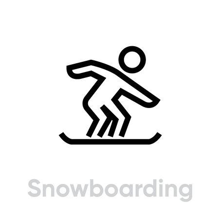 Snowboarding sport icons