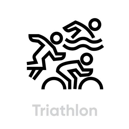 Triathlon sport icons