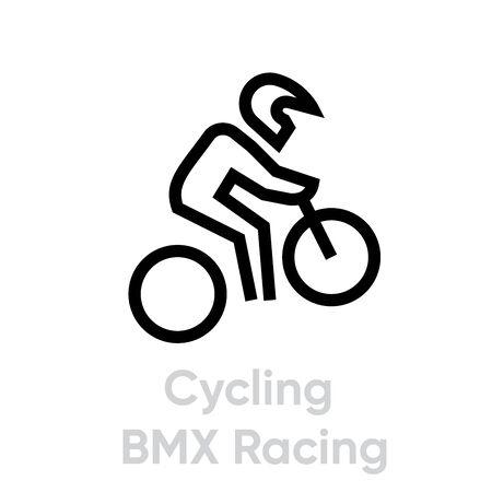 Cycling BMX Racing sport icons
