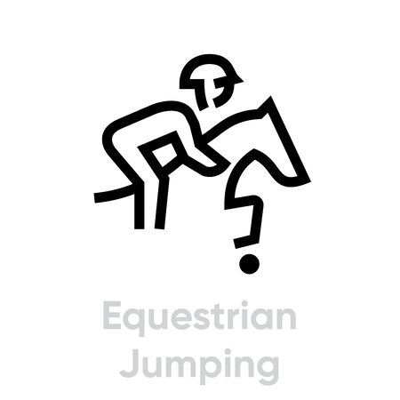 Equestrian Jumping sport icons