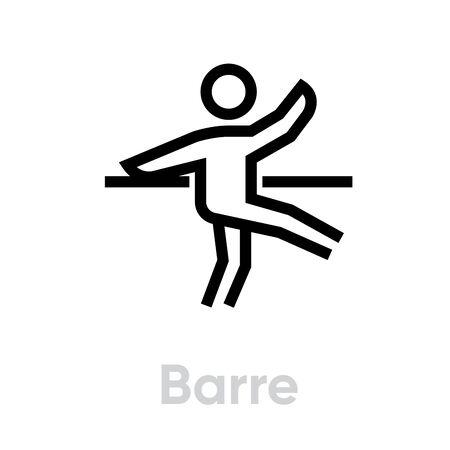 Barre activity icon. Editable stroke Ilustracja