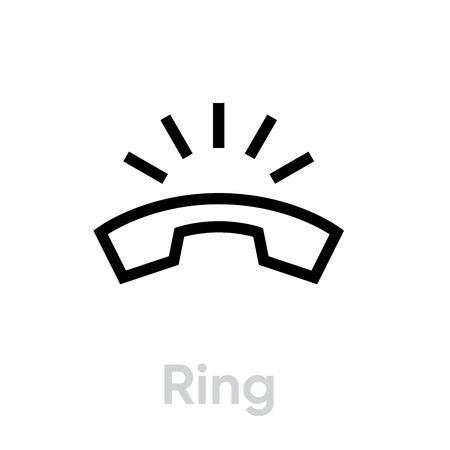 Phone Ring icon. Editable line Foto de archivo - 136712432