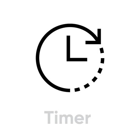 Timer Abstract Pictogram icon