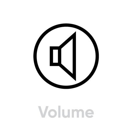 Volume sound music icon. Editable line vector.