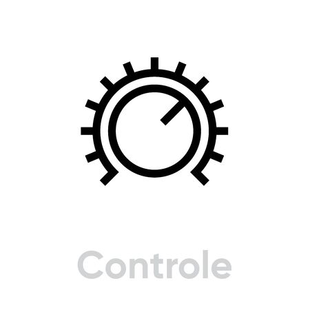 Control sound music icon. Editable line vector.