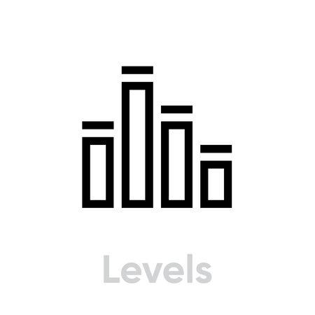 Levels icon. Editable Vector Stroke.