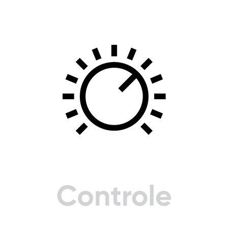 Control icon. Editable Vector Outline.