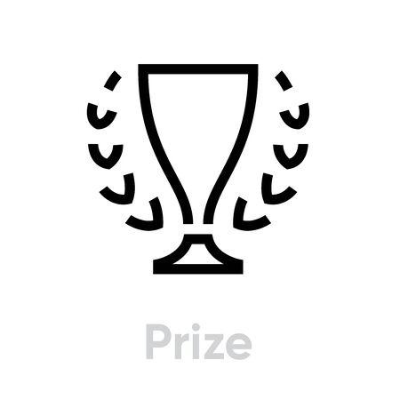 Prize icon. Editable Vector Stroke.