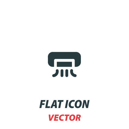 air conditioner icon in a flat style. Vector illustration pictogram on white background. 向量圖像