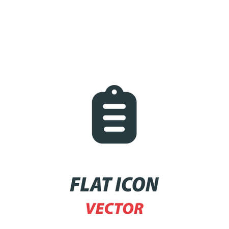 Contract terms and conditions icon in a flat style. Vector illustration pictogram on white background. Isolated symbol suitable for mobile concept, web apps, infographics, interface and apps design.